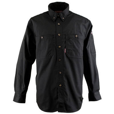 カジメイク ボタンダウンシャツ ブラック LL (取寄品)