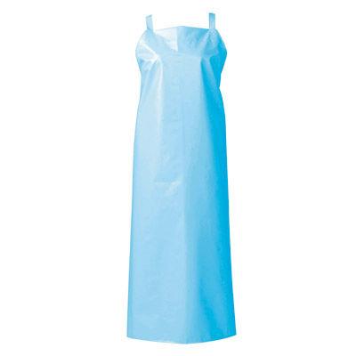 マイティクロス エプロン 胸当てタイプ L ブルー E1001-1 (取寄品)