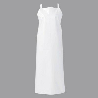 マイティクロス エプロン 胸当てタイプ LL ホワイト E1001-0 (取寄品)