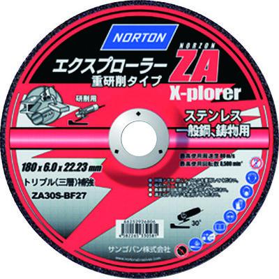 サンゴバン NORTON 研削砥石 エクスプローラーZA 180 2TW180XPRDZA6030 1セット(10枚入) 321ー0669 (直送品)