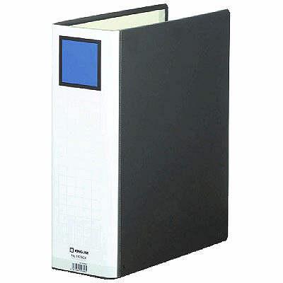 キングジム スーパードッチGXシリーズ A4タテ とじ厚80mm 10冊 黒 キングジム 両開きパイプファイル 1478GXクロ