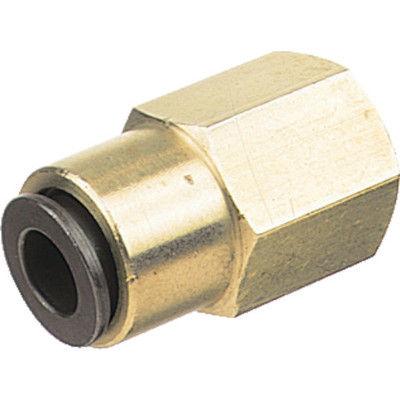 千代田通商 チヨダ フジフィメイルコネクター(金属) 8mm・Rc3/8 8-03F 1個 158-8095 (直送品)
