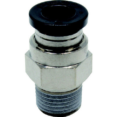 日本ピスコ ピスコ チューブフィッティング ストレート 適合外径6mm 接続口径R1/8 PC6-01 1個 290-9570 (直送品)