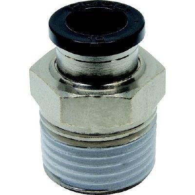 日本ピスコ ピスコ チューブフィッティング ストレート 適合外径10mm 接続口径R1/2 PC10-04 1個 290-9651 (直送品)