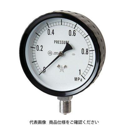 右下精器製造 右下 ステンレス圧力計(A枠立型・φ100) 圧力レンジ0~2.50MPa G411-261-2.5MP 1個 332-8210 (直送品)