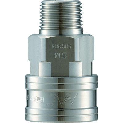 長堀工業 ナック クイックカップリング TL型 ステンレス製 メネジ取付用 CTL16SM3 1個 364-5681 (直送品)
