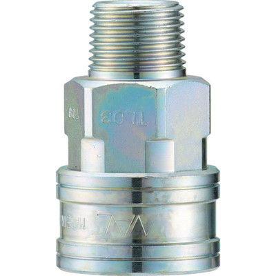 長堀工業 ナック クイックカップリング TL型 鋼鉄製 メネジ取付用 CTL04SM 1個 364-4987 (直送品)