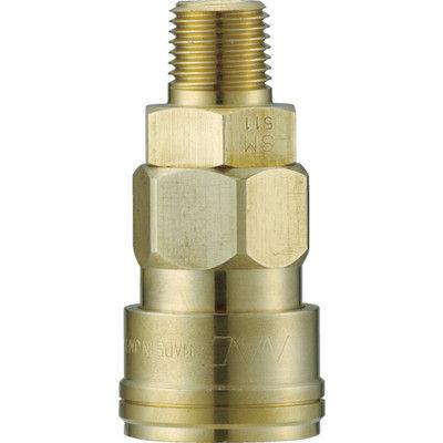 長堀工業 ナック クイックカップリング AL20型 真鍮製 メネジ取付用 CAL24SM2 1個 364-3123 (直送品)