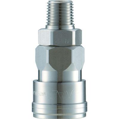 長堀工業 ナック クイックカップリング AL40型 ステンレス製 メネジ取付用 CAL46SM3 1個 364-3492 (直送品)