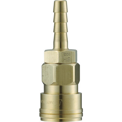長堀工業 ナック クイックカップリング AL20型 真鍮製 ホース取付用 CAL24SH2 1個 364-3093 (直送品)