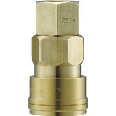 長堀工業 ナック クイックカップリング AL40型 真鍮製 オネジ取付用 CAL48SF2 1個 364-3603 (直送品)