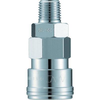長堀工業 ナック クイックカップリング AL40型 鋼鉄製 メネジ取付用 CAL48SM 1個 364-3654 (直送品)