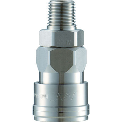 長堀工業 ナック クイックカップリング AL40型 ステンレス製 メネジ取付用 CAL44SM3 1個 364-3310 (直送品)