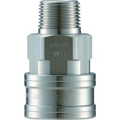 長堀工業 ナック クイックカップリング TL型 ステンレス製 メネジ取付用 CTL10SM3 1個 364-5444 (直送品)