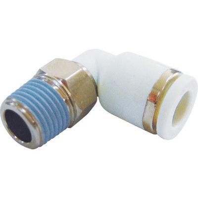 妙徳 CONVUM メイルエルボ 適合チューブ外径8mm 接続口径R1/8 WPL08-01 1個 363-7506 (直送品)