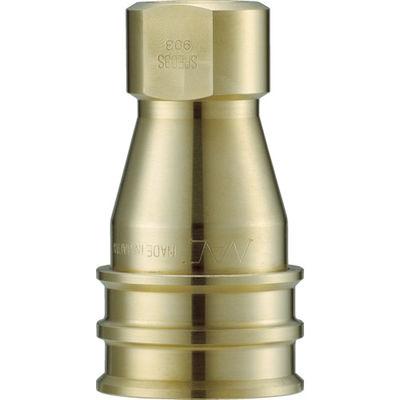 長堀工業 ナック クイックカップリング SPE型 真鍮製 大流量型 オネジ取付用 CSPE08S2 1個 364-4430 (直送品)