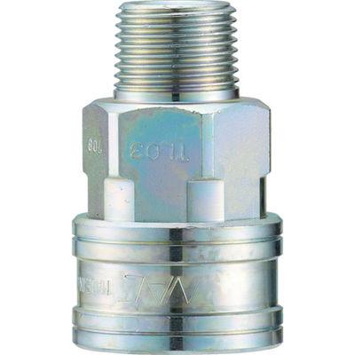 長堀工業 ナック クイックカップリング TL型 鋼鉄製 メネジ取付用 CTL08SM 1個 364-5304 (直送品)