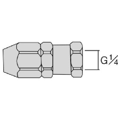 アネスト岩田(ANEST IWATA) ホースジョイント G1/4袋ナット AJU-02F 1個 284-2386 (直送品)