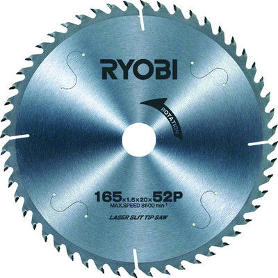 リョービ リョービ レーザーチップソー 165mm W660EDK 1枚 320ー0329 (直送品)