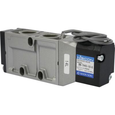 日本精器 4方向電磁弁10AAC100Vグロメット7Vシリーズシングル BN-7V43-10-G-E100 1個 104-5318 (直送品)