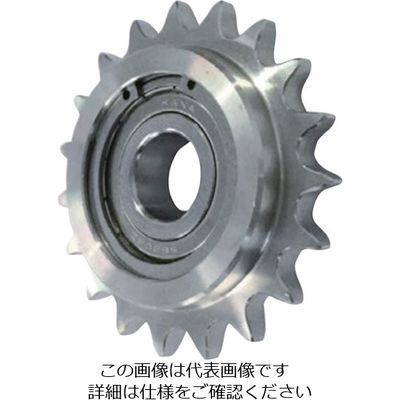 片山チエン ステンレスアイドラースプロケット80 SUSID80C10D17 1個 333-7049 (直送品)