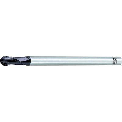 オーエスジー(OSG) 超硬エンドミル FX2刃ロングシャンクボール R8 8541160 FX-LS-MG-EBD-R8 1本 200-7355 (直送品)
