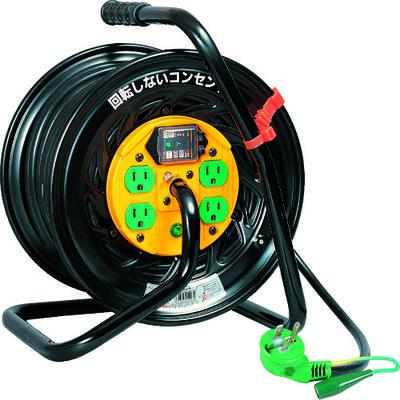 日動工業 日動 電工ドラム マジックリール 100V アース漏電しゃ断器付30m TZEB34 1台 296ー4112 (直送品)