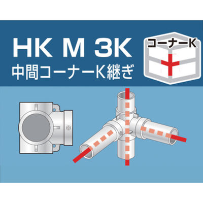 アルインコ(ALINCO) 単管用パイプジョイント 中間コーナーK継ぎ HKM3K 1個 308-0960 (直送品)