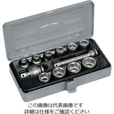 TONE(トネ) インパクト用ソケットセット(メタルトレー付) 12pcs NV3102 1セット 387-6756 (直送品)