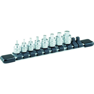 TONE(トネ) ショートヘキサゴンソケットセット(ホルダー付) 8pcs HH208S 1セット 387-6519 (直送品)
