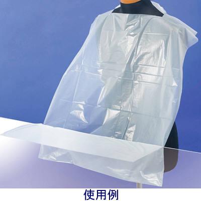 サポートエプロン ホワイト 1ケース(800枚:50枚入×16箱) 長谷川綿行 食事用エプロン (取寄品)