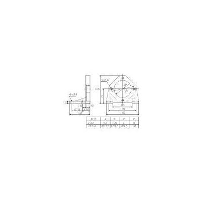 ダイキン工業(DAIKIN) ピストンポンプ用フート V8M-10 1個 364-9881 (直送品)