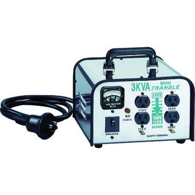 畑屋製作所 ミニトランスル 降圧型 単相200V→100・115V 3.0KVA LV-03CS 1個 370-3690 (直送品)