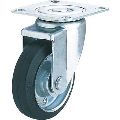 ユーエイキャスター(YUEI CASTER) 産業用キャスター自在車 125径ゴム車輪 SJ-125W-P 1個 379-7074 (直送品)