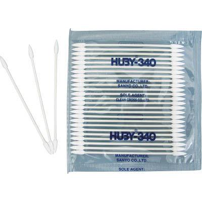 クリーンクロス HUBY マイクロスワッブ(シャープポイントスリム) (5000本入) BB-003MB 1箱(5000本) 365-1878 (直送品)