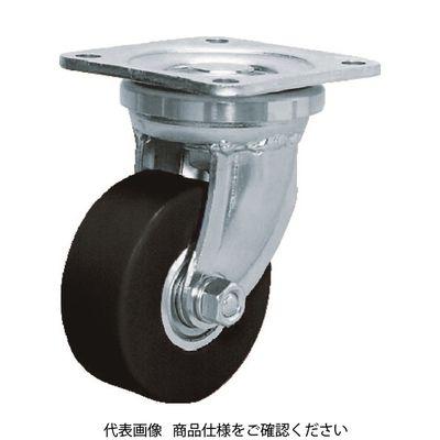 シシク 低床超重荷重用キャスター 100径ユニクロメッキ MCMO車輪 DHJ100UMCMO 1個 353ー5002 (直送品)