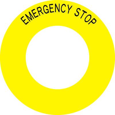 アイマーク IMボタンラベルEMERGENCY STOPφ56 AB602 1セット(1組:10枚入×1) 391ー7819 (直送品)