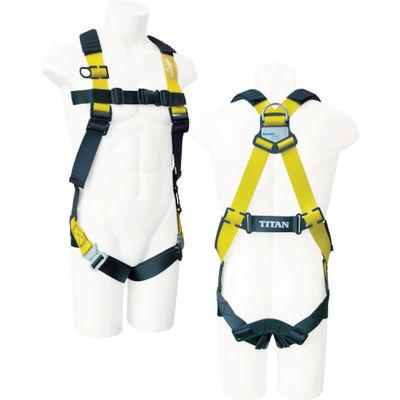 安全帯 1本吊り タイタン イージーハーネスEHC-10A ブラック/イエロー EHC10A 1本 376-5857 SANKO(サンコー) (直送品)