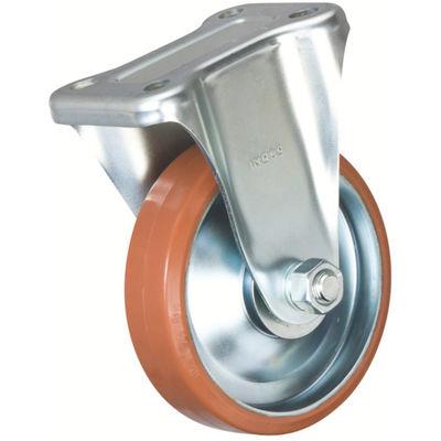 イノアック車輪(INOAC) 中荷重用キャスター ログラン 固定金具付 Φ100 P-100WK 1個 384-7233 (直送品)
