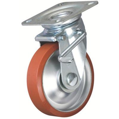 イノアック車輪(INOAC) 中荷重用キャスター ログラン ストッパー・旋回金具付 Φ200 P-200WJS 1個 384-7349 (直送品)