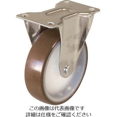 ユーエイキャスター(YUEI CASTER) キャスター固定車 径100ウレタン車輪 ER-100UR 1個 379-6141 (直送品)