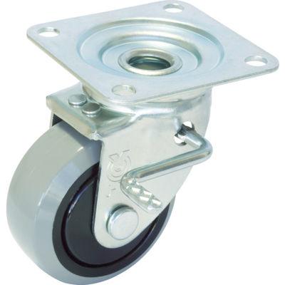 産業用キャスター右S付自在車 130径ナイロンホイルウレタン車輪 GUJB-130(R) 379-6671 (直送品)