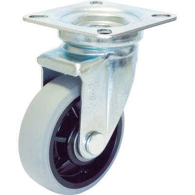 ユーエイキャスター(YUEI CASTER) 産業用キャスター自在車 200径ナイロンホイルウレタン車輪 GUJ-200 1個 379-6582 (直送品)