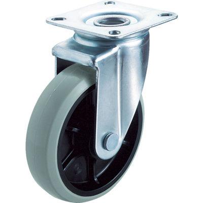 ユーエイキャスター(YUEI CASTER) 産業用キャスター自在車 130径ナイロンホイルウレタン車輪 GUJ2-130 1個 379-6591 (直送品)