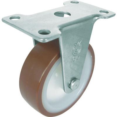 ユーエイキャスター(YUEI CASTER) キャスター ステンレス製固定車 径50ウレタン車輪 SUS-ER-50UR 1個 379-7546 (直送品)
