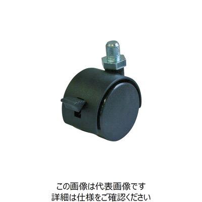 双輪キャスターS付自在車 40径ナイロン車輪M12 P1.25 PT-40TS-M12 392-9965 (直送品)