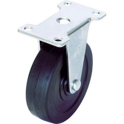 ユーエイキャスター(YUEI CASTER) キャスター固定車 径65ハードゴム車輪 ER-65RH 1個 379-6205 (直送品)