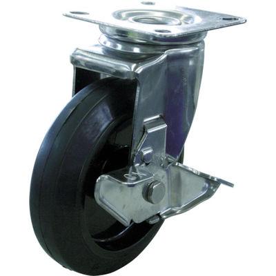 キャスターステンレス製自在車 150径ナイロンホイルゴム車輪 SUS-NRJ2-150 384-3939 (直送品)