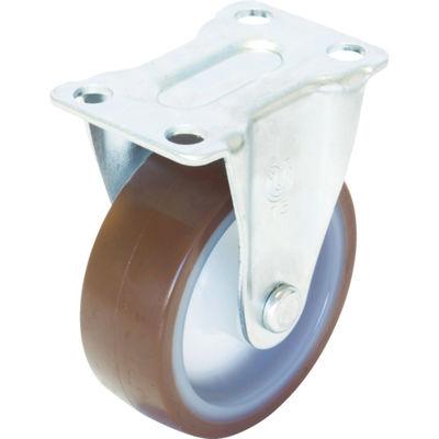 ユーエイキャスター(YUEI CASTER) キャスター固定車 ウレタン車輪径50 SR-50UR 1個 379-7228 (直送品)