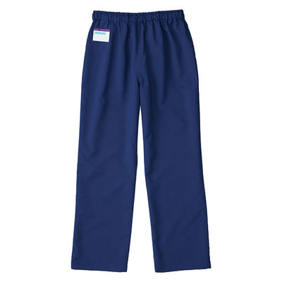 KAZEN カラーパンツ(男女兼用) スクラブパンツ 医療白衣 ネイビー 3L 155-98 (直送品)